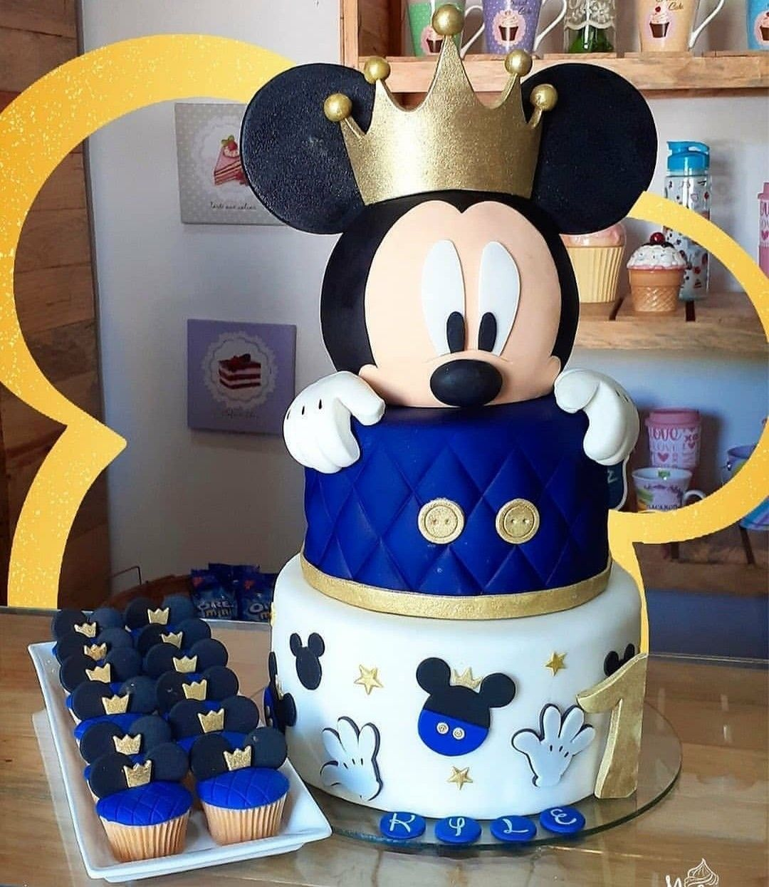 Pin By Paty Disyan On Bolos Baby Mickey Mouse Cake Mickey Mouse Baby Shower Baby Birthday Cakes