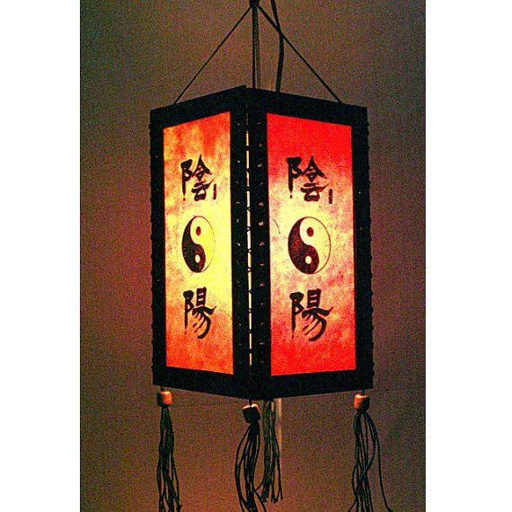 Zen hanging lamp lighting, Wood pendant lamp shade ...