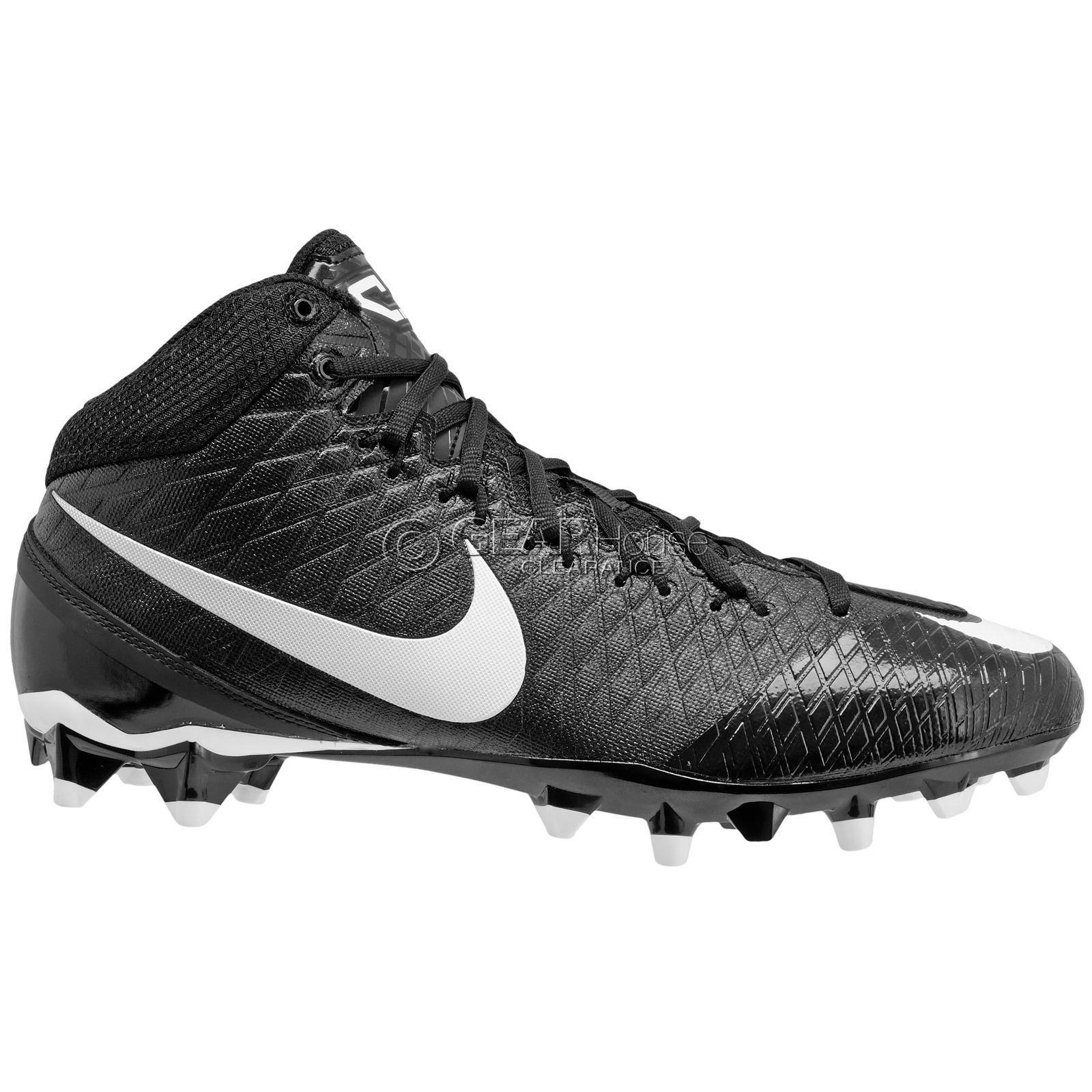 1aa85f79a New Nike CJ3 Pro TD Mid 3 4 Mens Football Cleats Calvin Johnson   Black