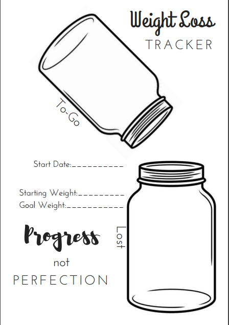 Nifty image inside weight loss journal printable
