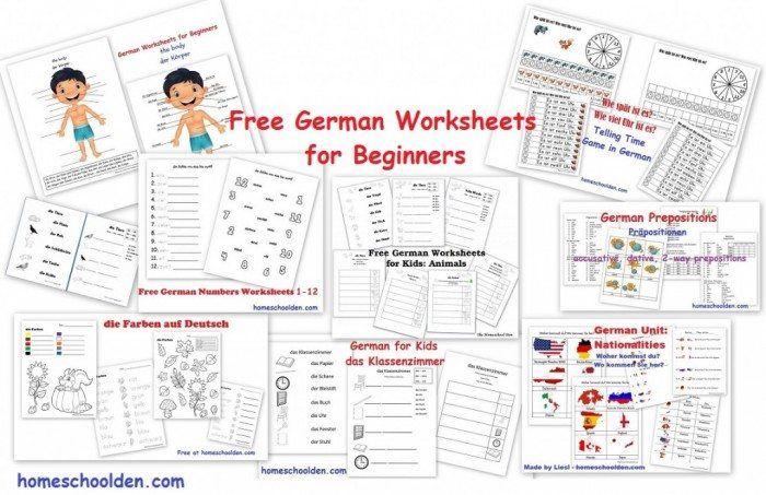 FREE German Worksheets for Beginners | homeschool | German ...