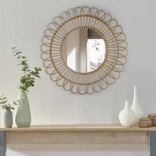 Ratan Mirror Wayfair Mirror Wall Boho Mirrors Round Wall Mirror