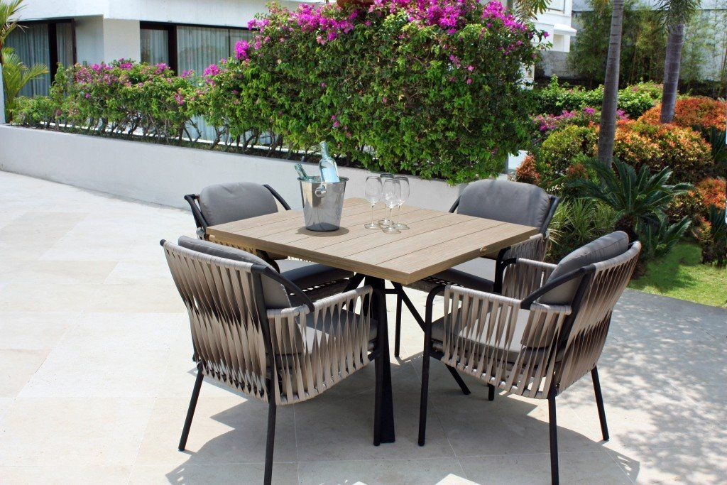 Skyline Chatham Outdoor Dining Table Square 4 Seater Homelia Com