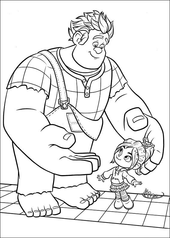 Wreck-It Ralph coloring pages to download and print for