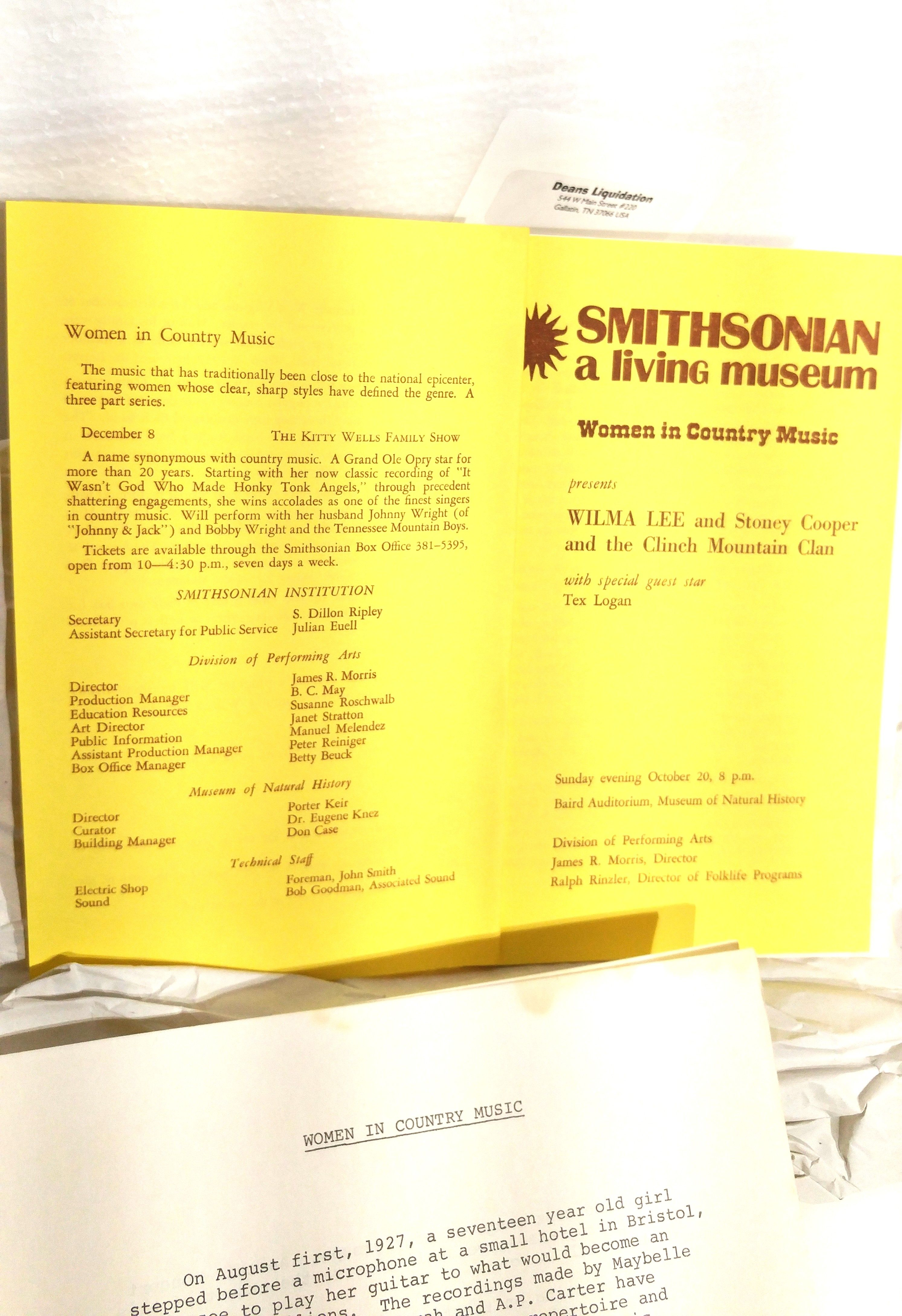 Women in country music smithsonian induction program for
