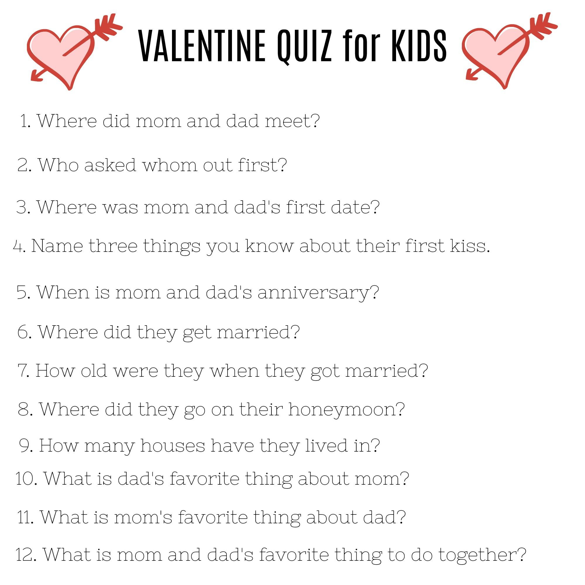 See how much your kids know about your love life! Such a fun