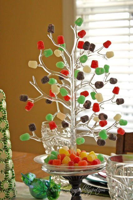 Gumdrop Tree Centerpiece – shared by Southern Scraps - Gumdrop Tree Centerpiece €� Shared By Southern Scraps Candy & Ice