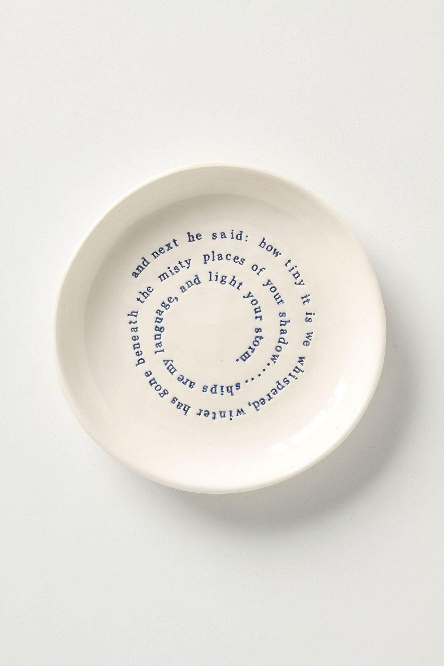 Ceramic art & Musings Side Plate by poet-potter Kylie Johnson 10.25\