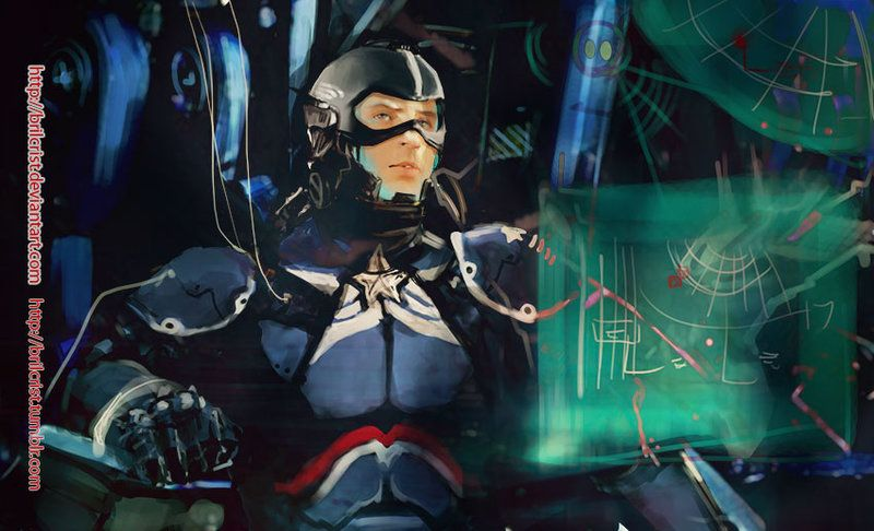 Marvel x pacific rim: Steve Rogers02 by Brilcrist.deviantart.com on @deviantART
