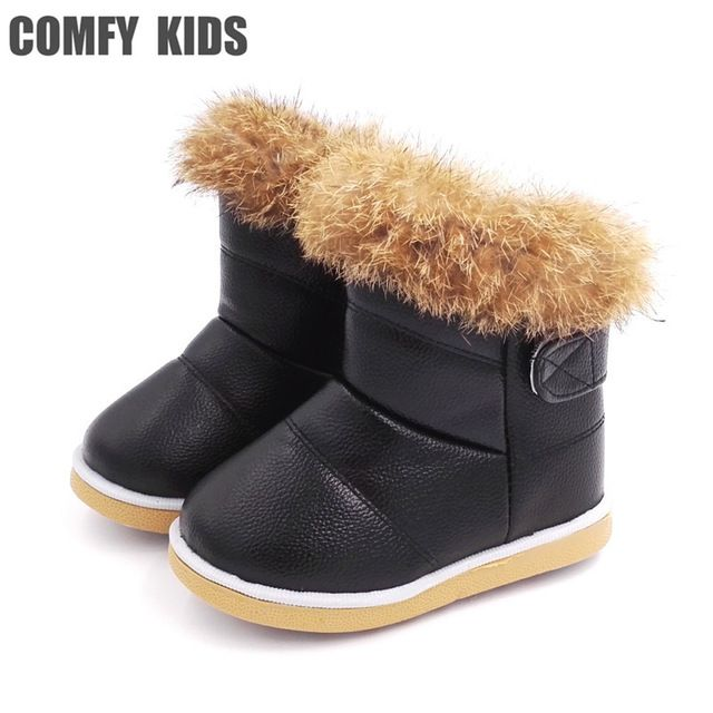 a15b5efdf COMFY KIDS Winter Fashion child girls snow boots shoes warm plush soft  bottom baby girls boots