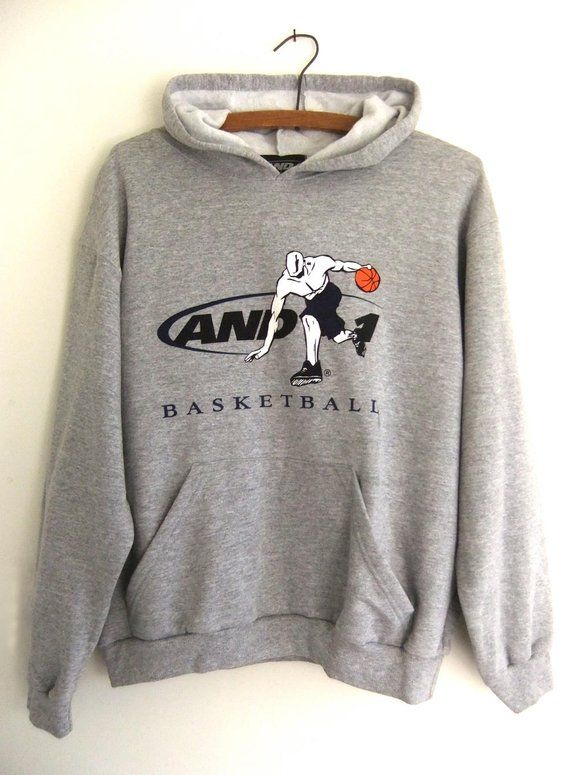 b30f2061b02e4b AND1 Basketball Hoodie - 90s Throwback Hip Hop Style AND One Hoops Vintage  Hooded Sweatshirt - Mens