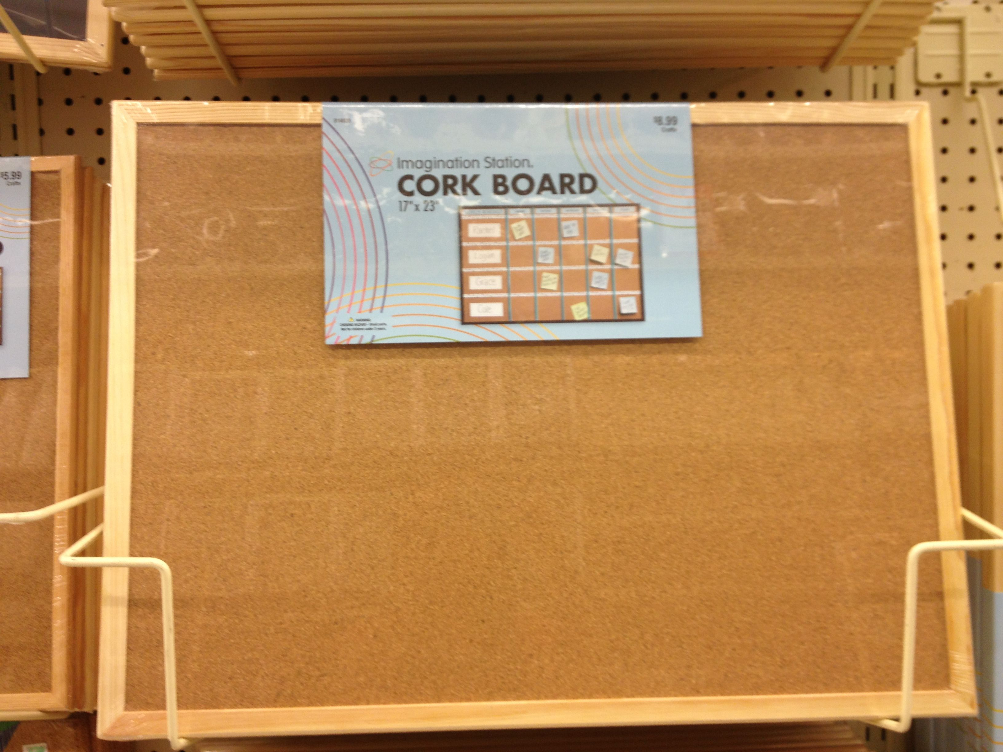 """17""""x23"""" framed cork board at hobby lobby for mudroom or office"""