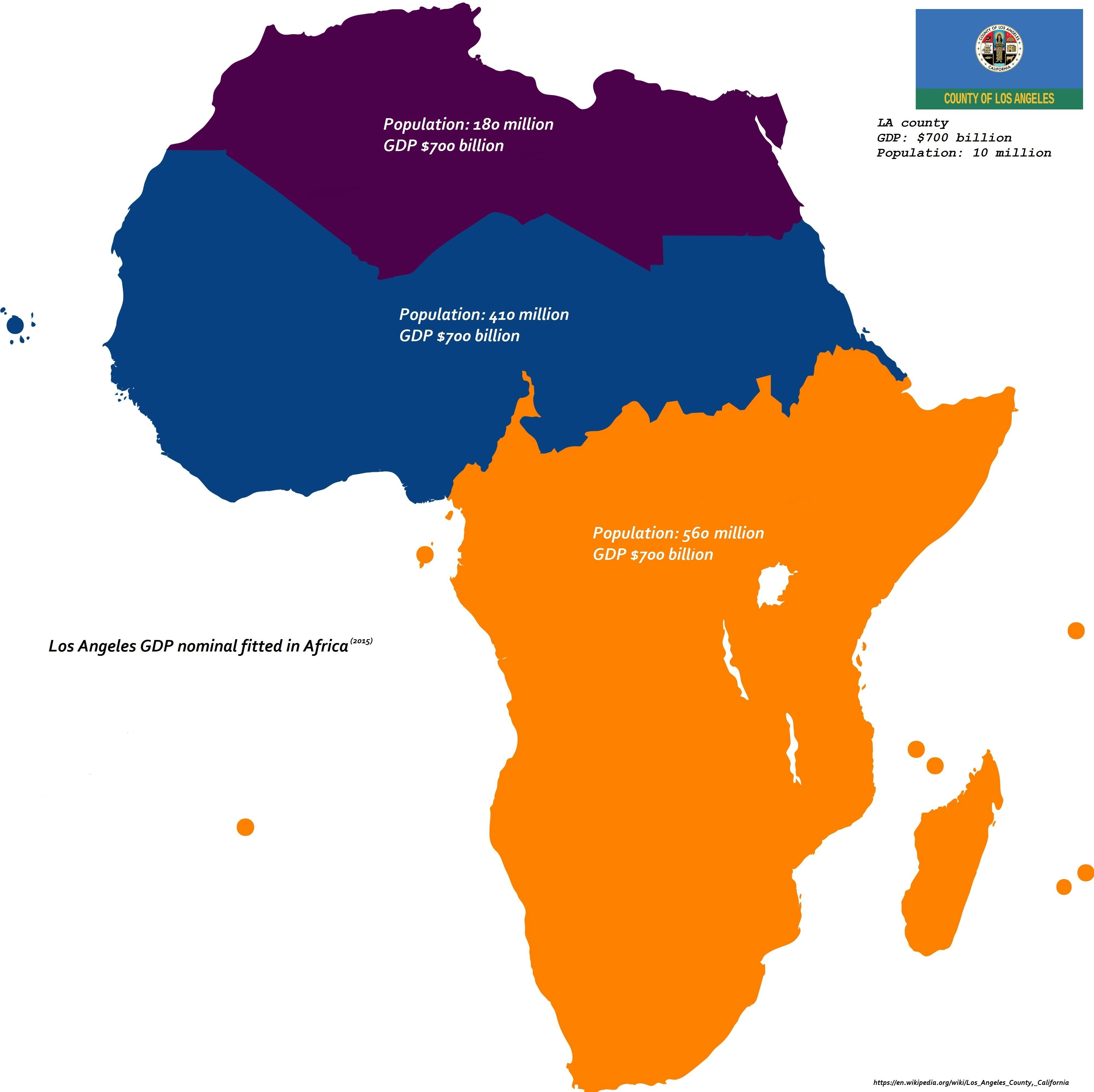 Los Angeles GDP Nominal Fitted In Africa X - Jo mora los angeles map