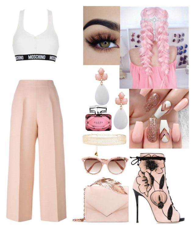 """""""No. 4"""" by aoife2k15 on Polyvore featuring Fendi, Rosantica, Giuseppe Zanotti, Victoria Beckham, RALPH & RUSSO, Rina Limor, Gucci and Moschino"""