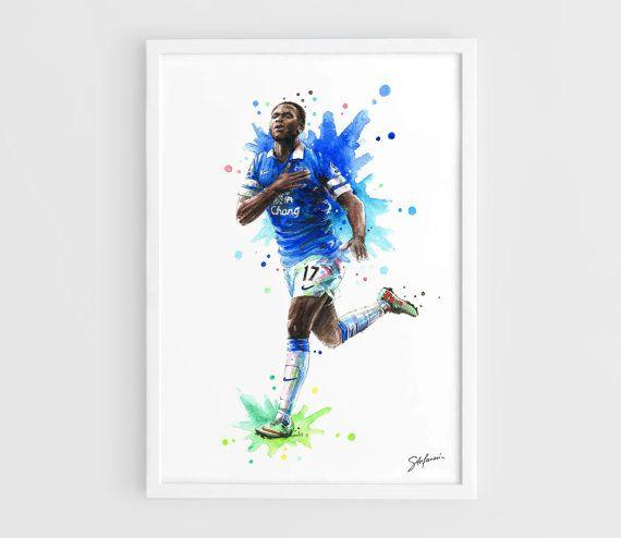 Romelu Lukaku Everton FC Chelsea FC A3 Art Prints Of By