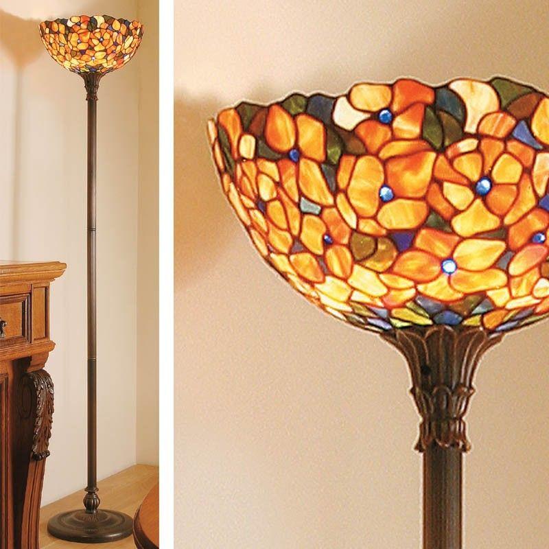 Lampada da terra piantana stile tiffany con fiori piantane explore tiffany floor lamps lighting ideas and more aloadofball Choice Image