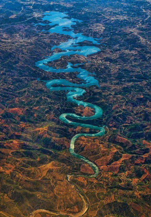 Blue Dragon River in  Portugal