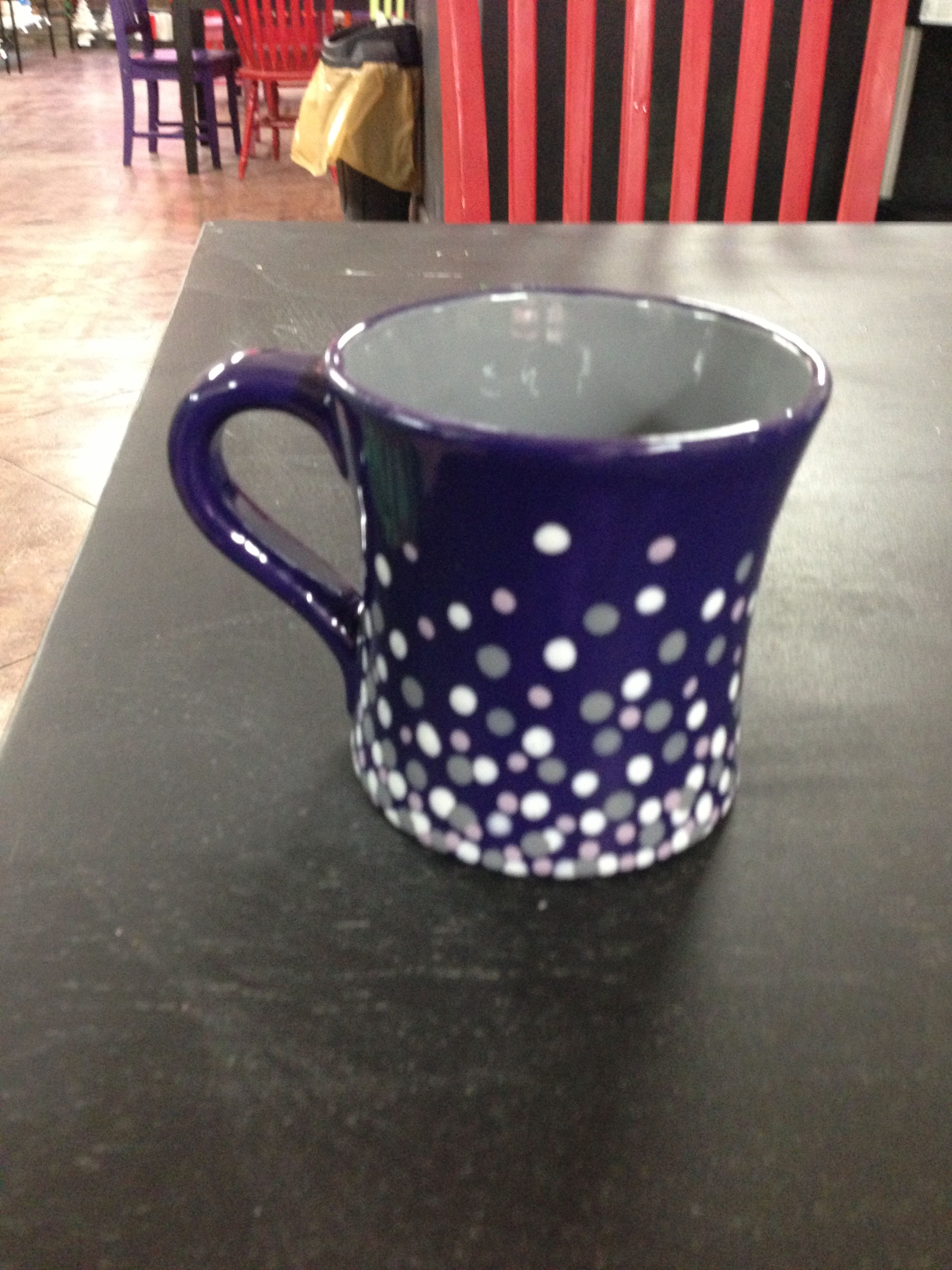 Mocha Mug Hand Painted At Pottery Worx With Images Pottery