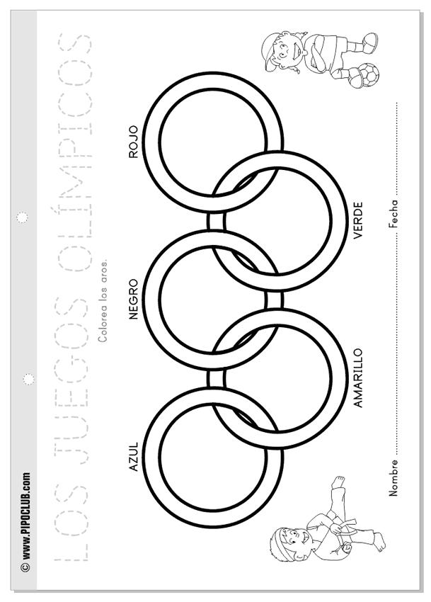 Actividades Olimpiadas niños Pipo #niños #Pipo #colorear #Olimpiadas ...