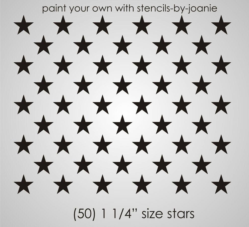 Joanie Stencil 1 25 Inch Stars Proud American Flag Country Patriotic Art Signs Ebay Americanflag Deco Peinture Mobilier De Salon Maquillage Enfant