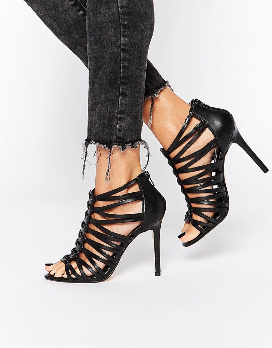 Buy Women Shoes / Dune Meeli Black Gladiator Heeled Sandals