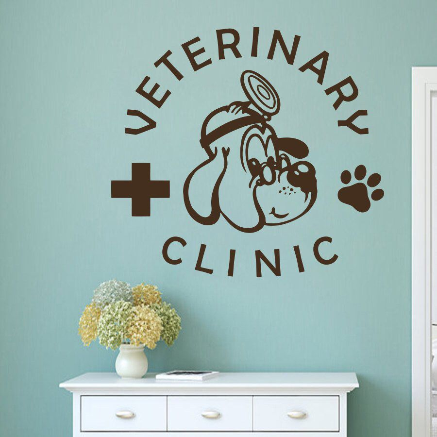 Wall Decal Pets Pet Veterinary Services Medicine Veterinary Etsy Wall Decals Vinyl Wall Stickers Veterinary Services