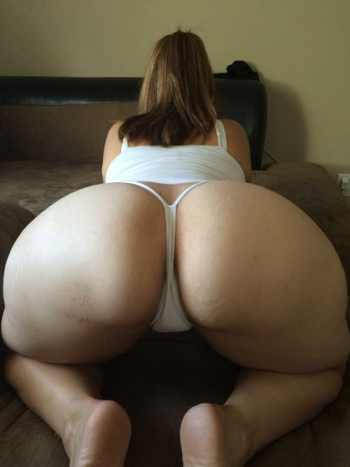 Big White Ass Thong