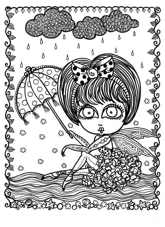 5 pages Downloadable Coloring Book Pages Funky Fairy Ballerinas - best of fairy ballerina coloring pages