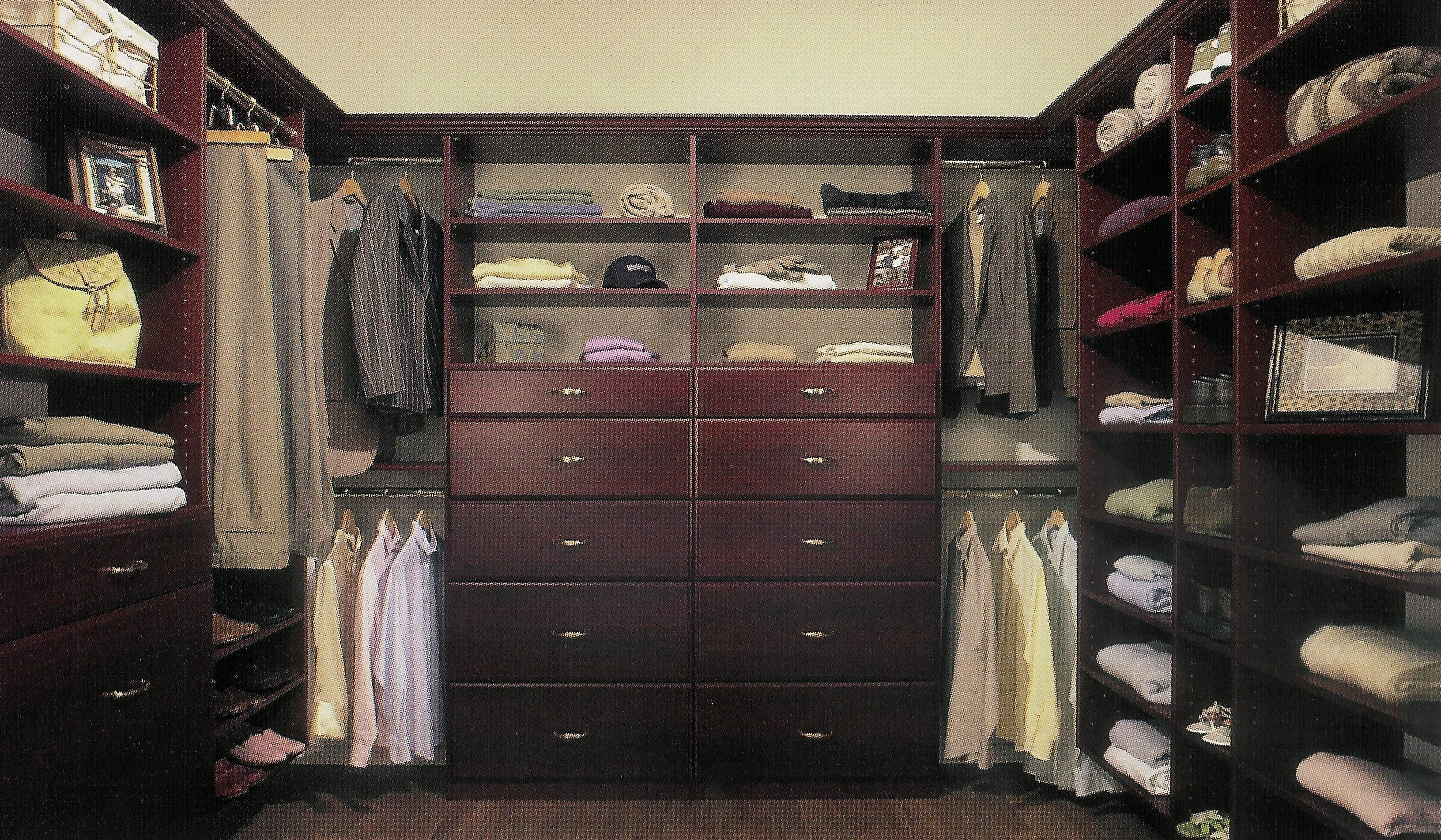 Wlak In Closets - Cherry Walk In Closet System