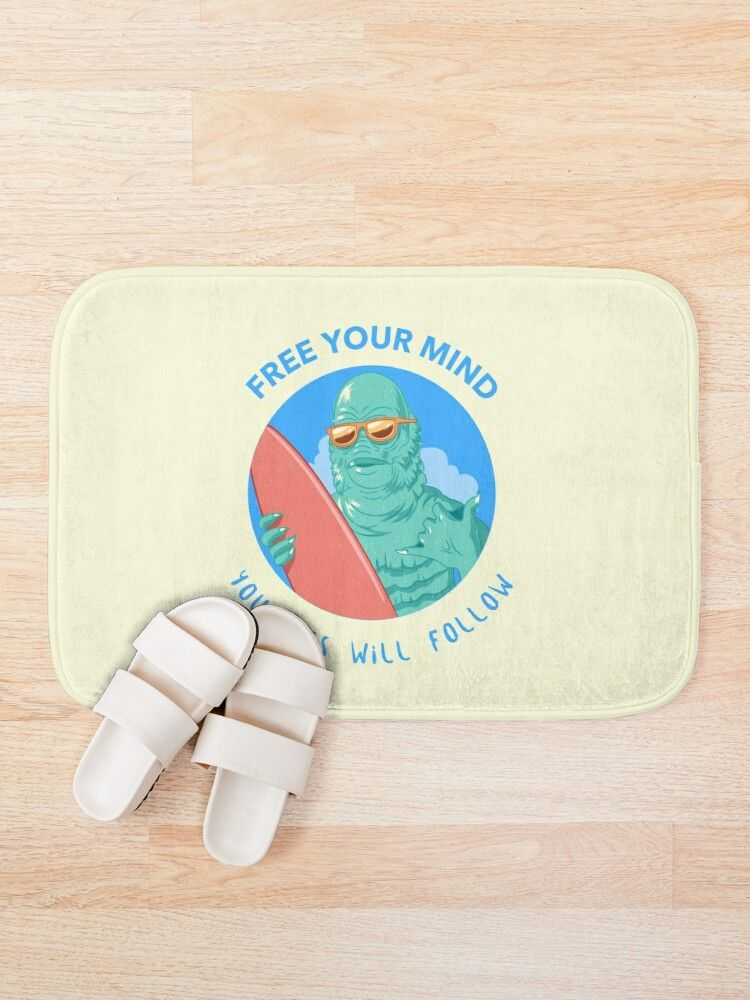 Free Your Mind Bath Mat By Shineeyepirate Free Mind Alien