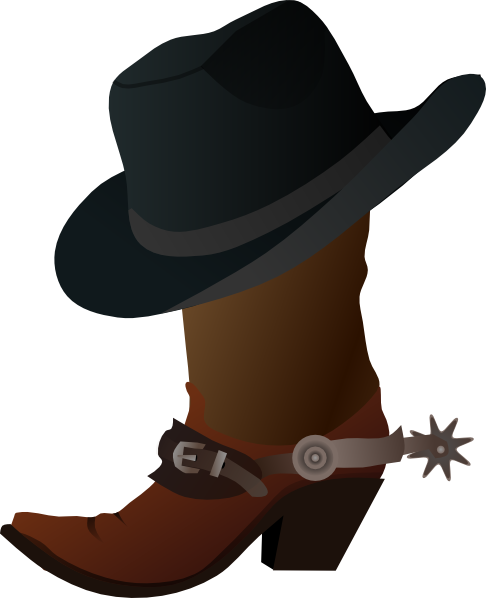 clip art cowboy boots cowboy boot and hat clip art things i love rh pinterest co uk