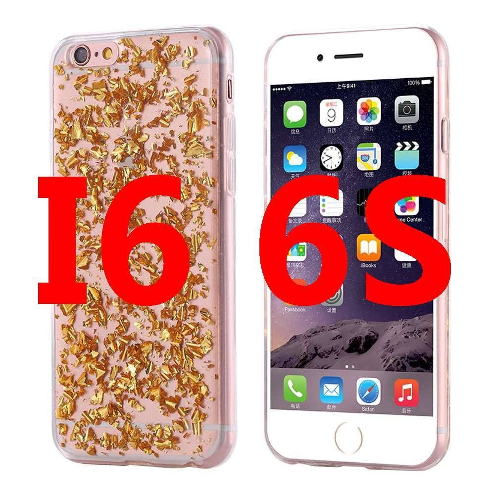 Gold Bling Paillette Sequin Cover For iPhone 7 Soft TPU Case For iPhone 6 7 6s 5 5s SE Rubber Back Cases For iPhone 7 6 6s Plus