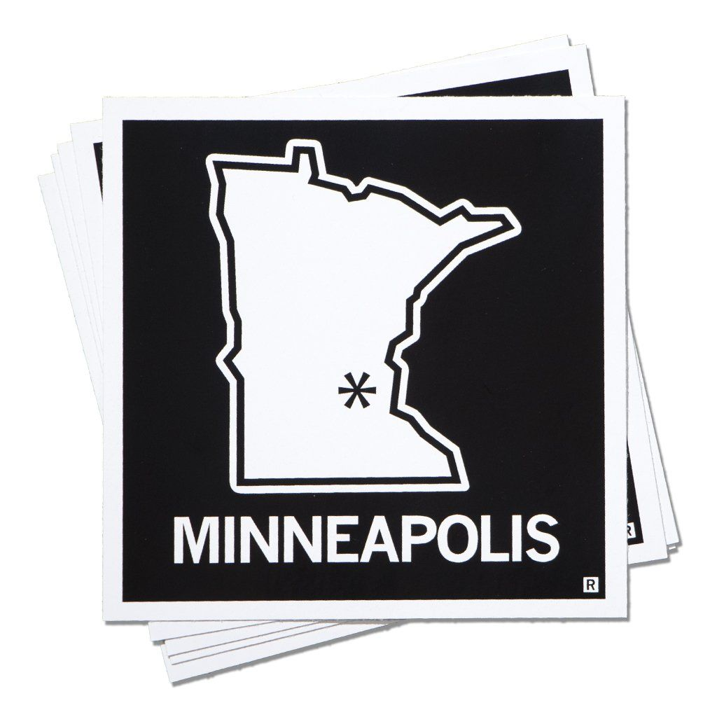 Minneapolis Minnesota Outline Sticker Products