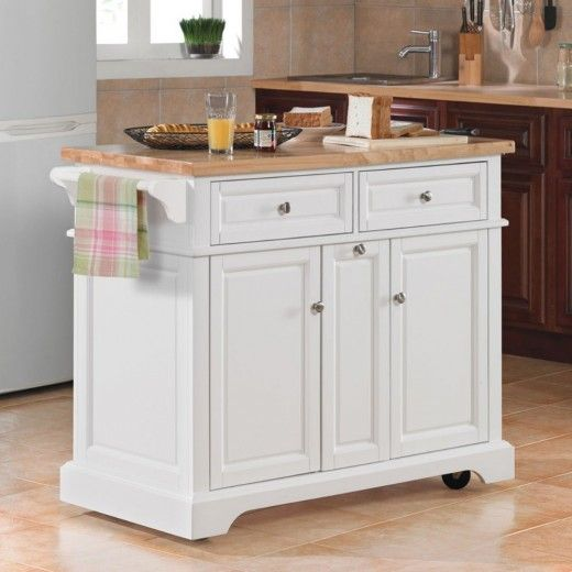 White Kitchen Island On Wheels  Lovely With Wheels White Kitchen Enchanting Kitchen Island On Casters Decorating Design