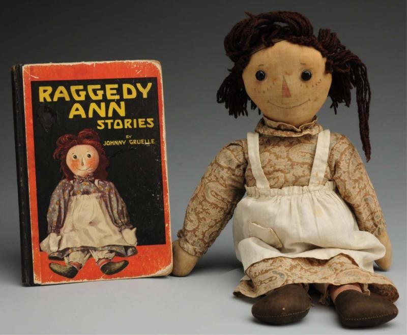 "Very Early Volland ""Raggedy Ann"" Doll. Ca. 1920"