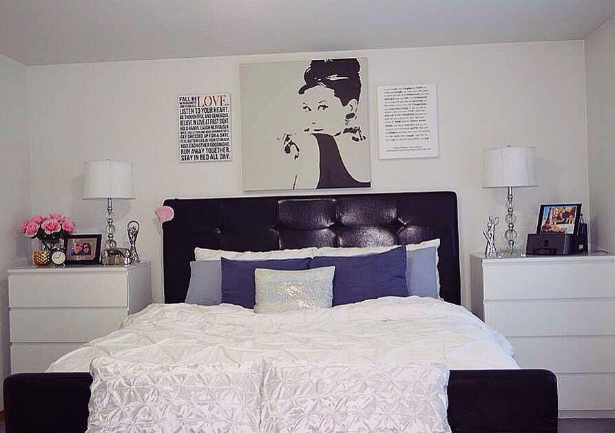 white 4 drawer Ikea Malm dressers as NightstaNds | Elegant