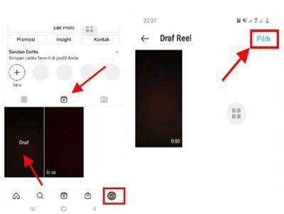 cara menghapus draft reels di instagram,cara menghapus draft reels di instagram