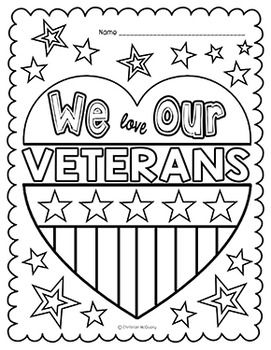 veterans day coloring pages more