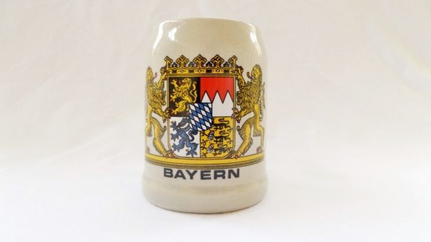 Vintage Bayern Ceramic Beer Tankard With Royal Arms, Crown & Lion by pentyofamelie on Gourmly