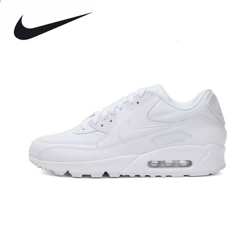 online store 3970a f1689 Nike WMNS AIR MAX 90 ESSENTIAL Dame løbesko, Originale Kvinder Åndbar Air  Mesh Sport Udendørs Sneakers Trainers Sko