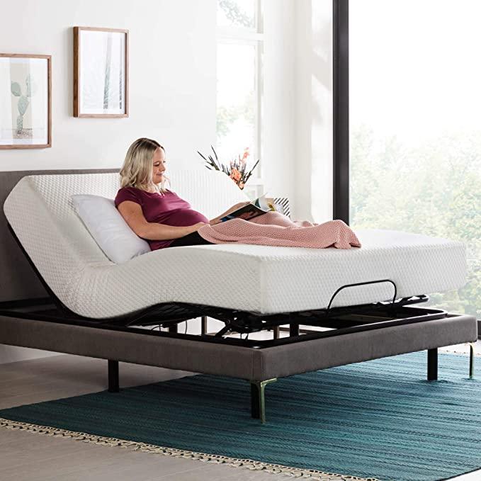 Amazon Com Linenspa Adjustable Bed Base Motorized Head And Foot