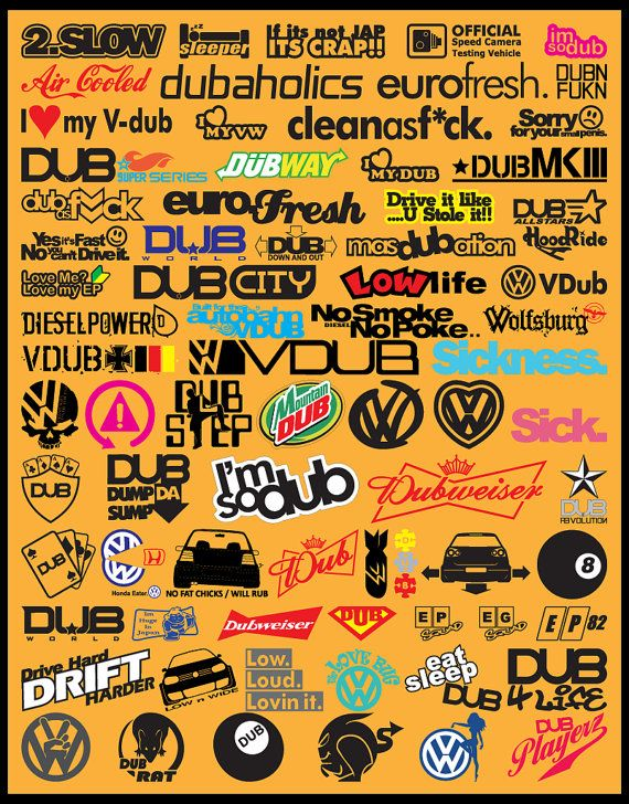 Jdm car decals vector files eps format volume by vectorvinylshop