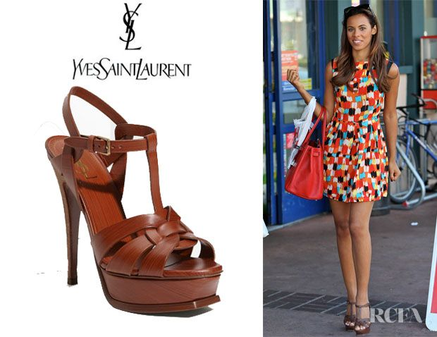 red ysl tribute sandals
