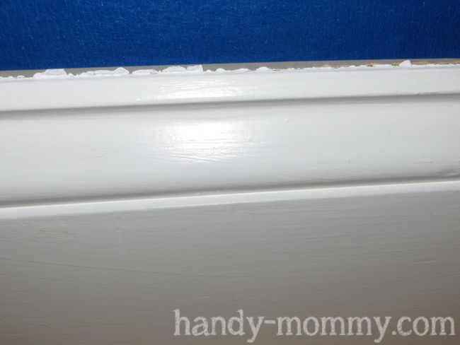 Handy Mommy: Making Old Baseboards Look Pretty  The Caulk Tip Is What Makes  This Worth Pinning