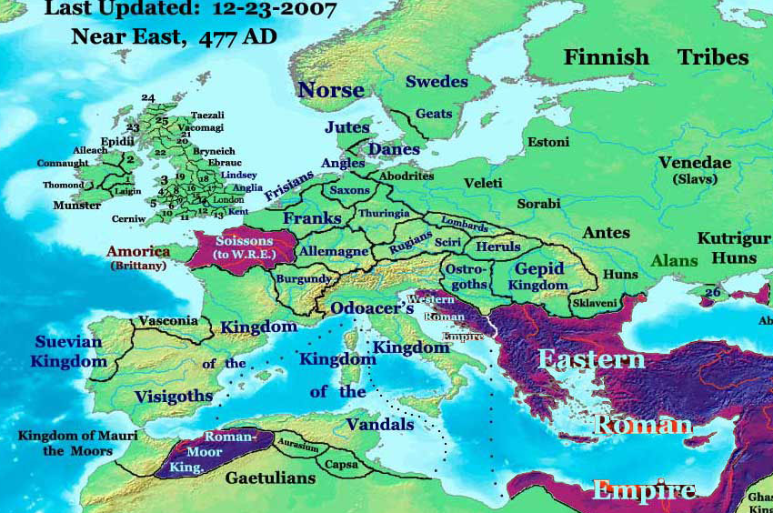 map of europe 5th century 38 maps that explain Europe   Vox | Map, Europe map, Roman empire map