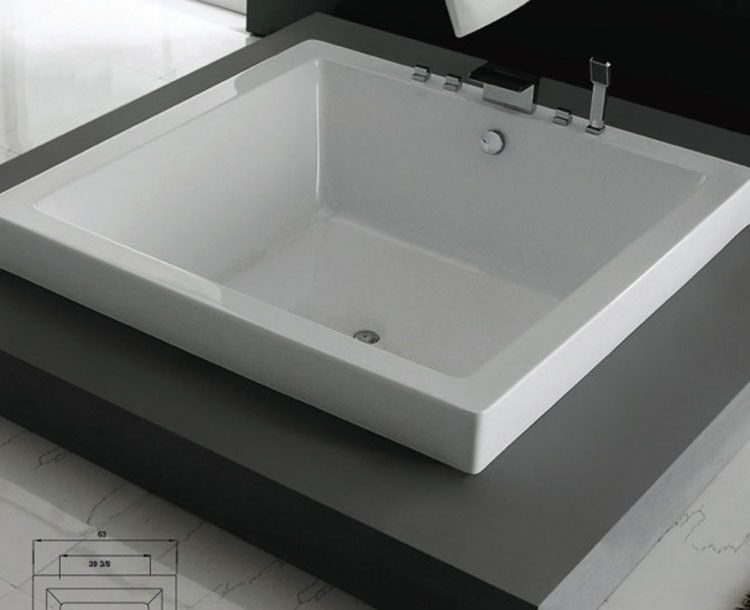 Vasca Da Bagno Quadrata : Vasca da bagno quadrata modelli da appoggio e da incasso