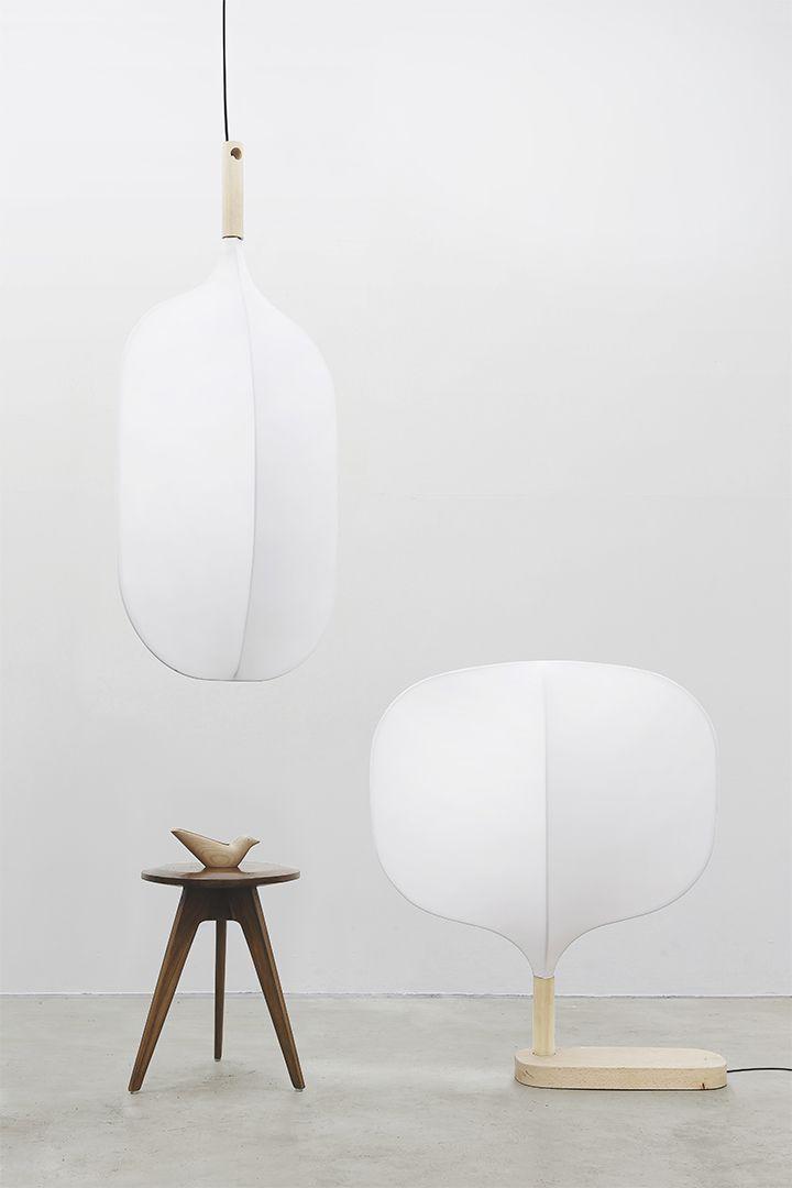 chimney dong hyun kim floor lamp hanging lamp white minimalist lamps - Floor Hanging Lamp