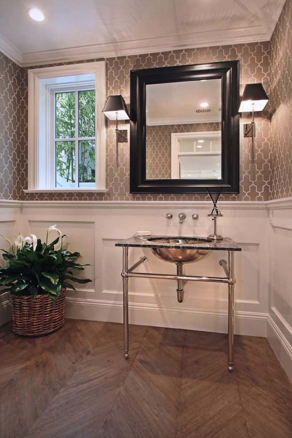13 Awe Inspiring Coastal Bedroom Design Ideas Powder Room Wallpaper Dining Room Wainscoting