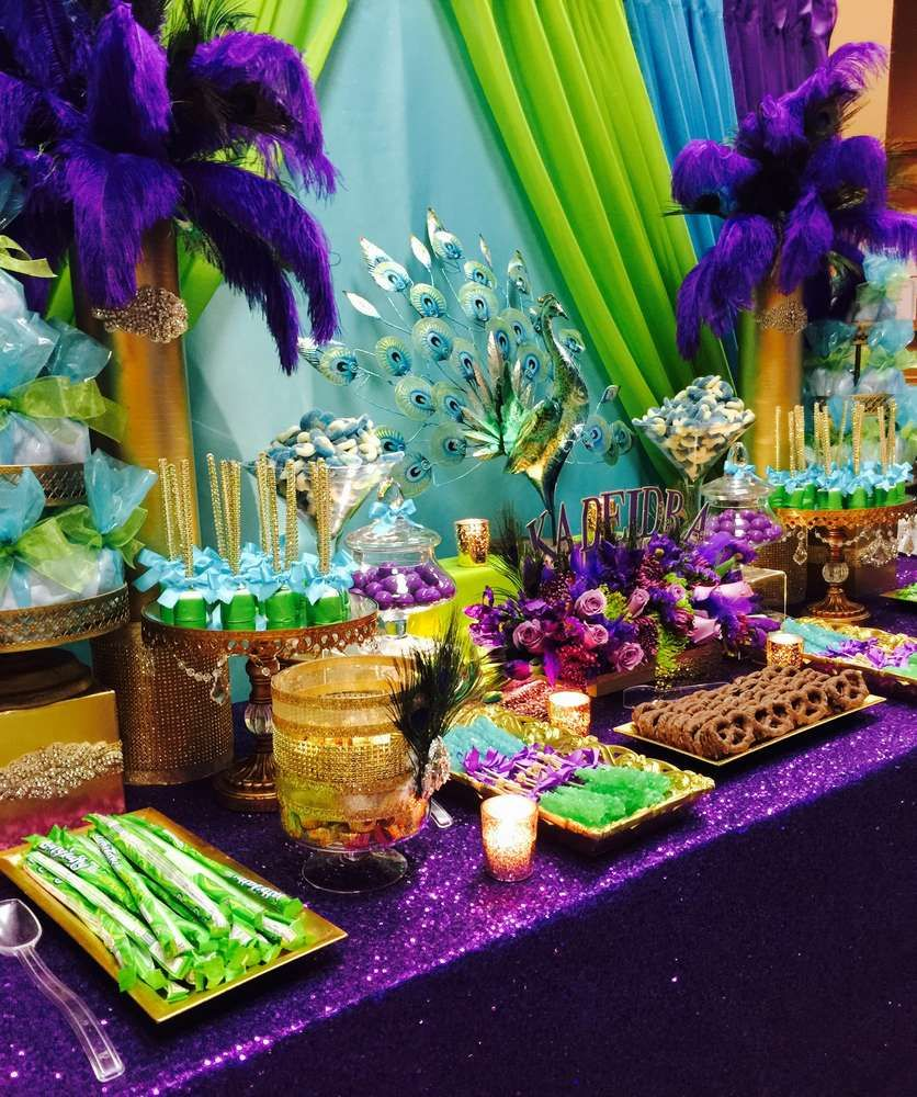 Peacock Theme Birthday Party Ideas Photo 1 Of 8 Catch My Party
