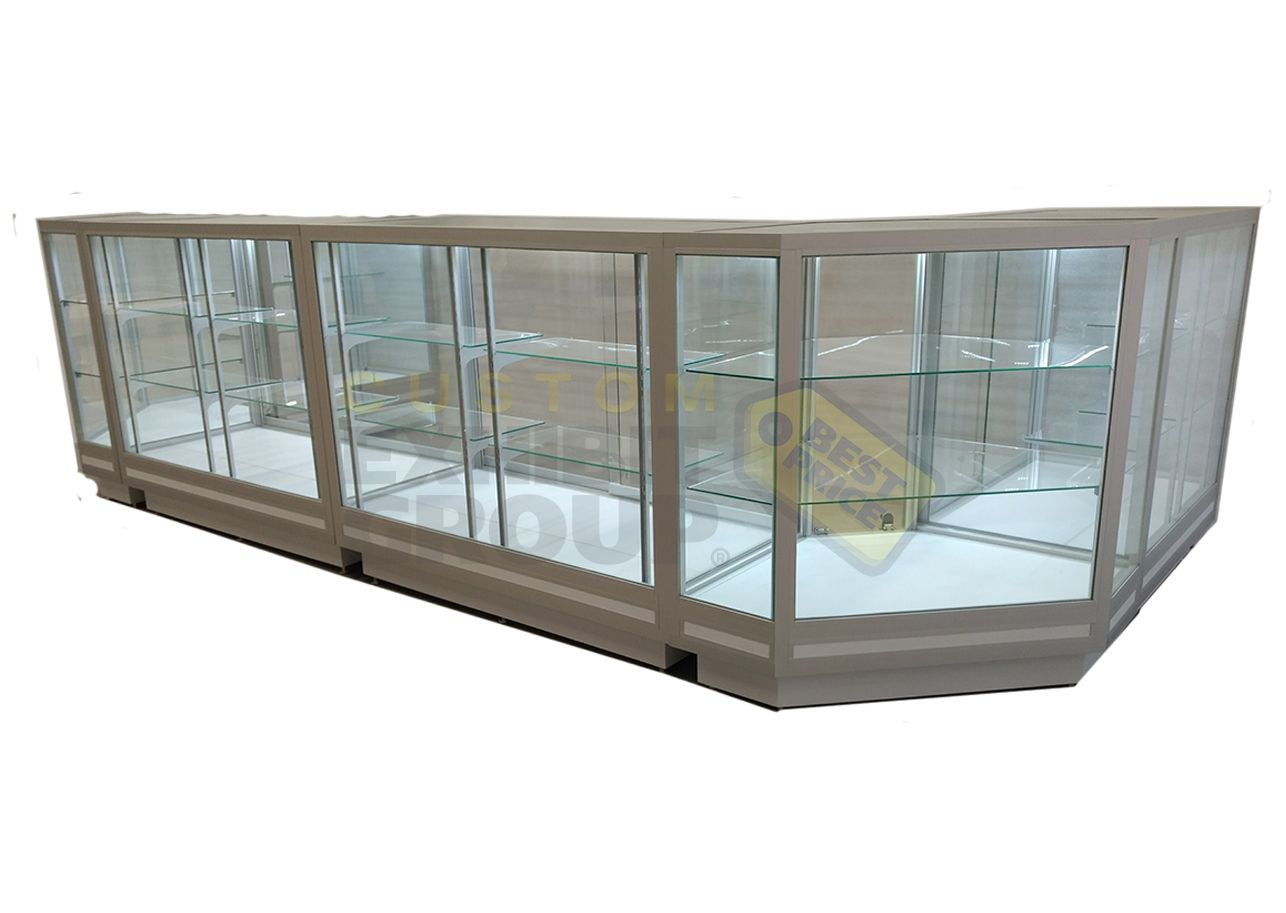 Jewelry Counter Showcases Wall Display Case Custom Display Case